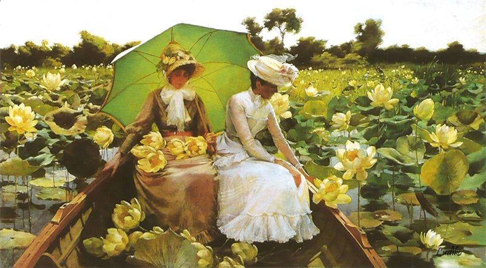 Charles Courtney Curran 1861-1942 | American Impressionist painter