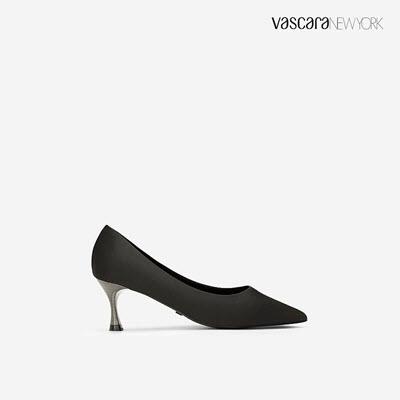 Giày Cao Gót Satin Mũi Nhọn - BMN 0402 - Màu Đen