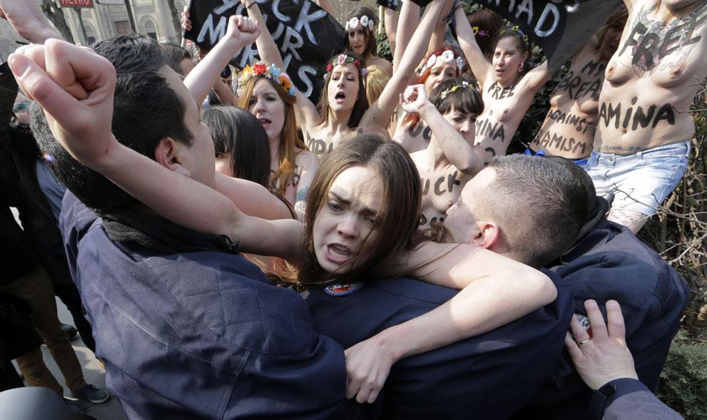 Arab girls against islamists femen — pic 15