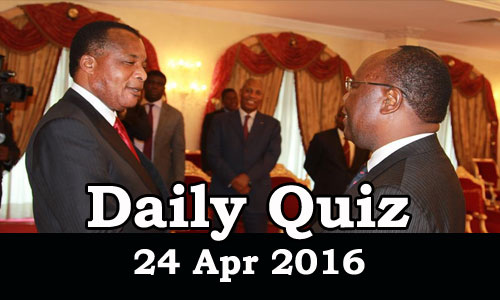 Daily Current Affairs Quiz - 24 Apr 2016