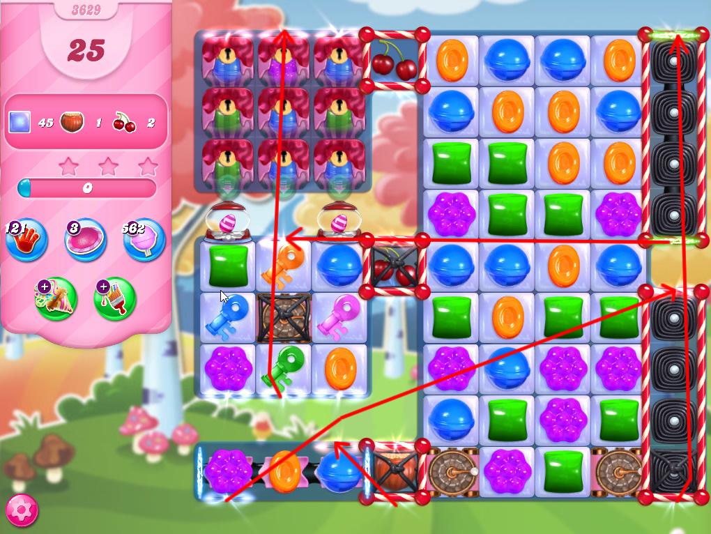 Candy Crush Saga level 3629