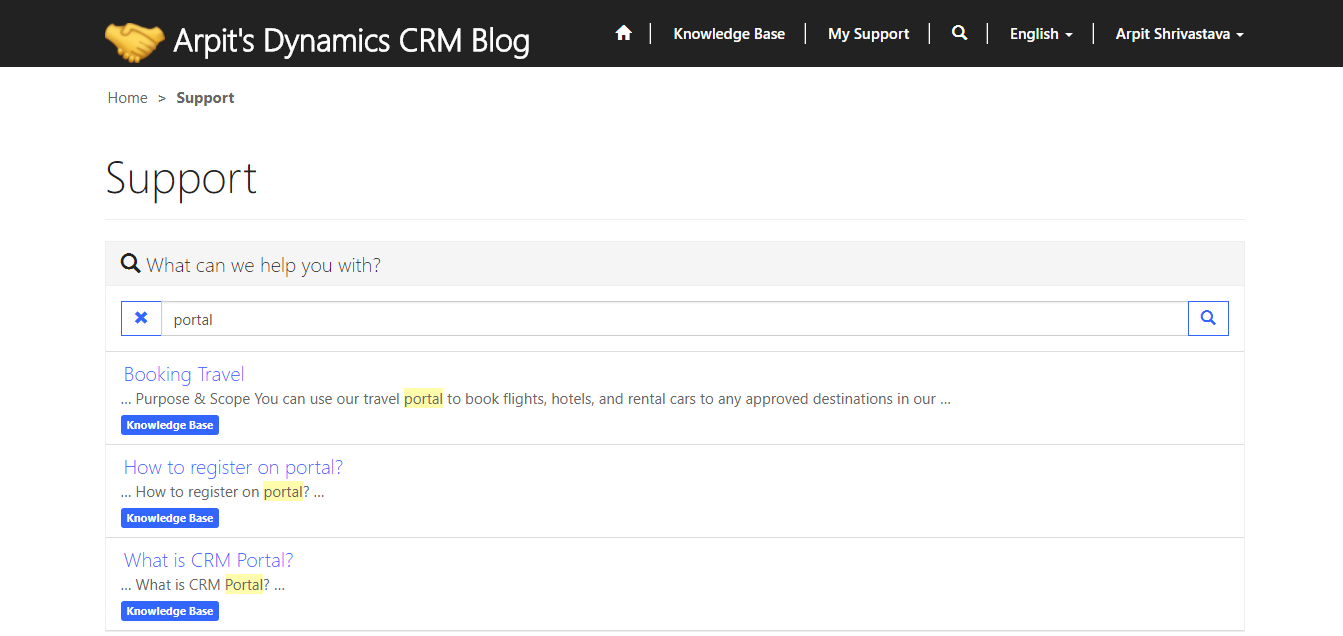Configure Knowledge Articles In CRM Portals - Microsoft