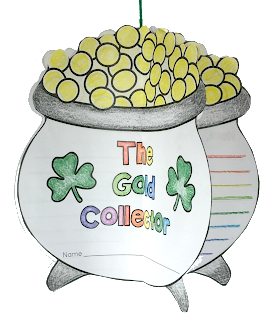 Download this free adorable pot of gold circle book for your next creative writing project for the St. Patrick's Holiday!