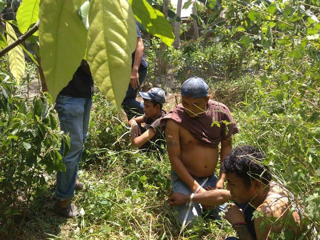 Penangkapan 3 tersangka pengedar narkoba di Asahan yang sedang transaksi di semak-semak.