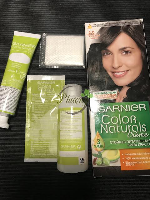 Thuốc nhuộm tóc Garnier Color Naturals hàng Nga chính hãng