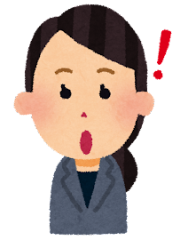 女性会社員の表情イラスト「ひらめき」