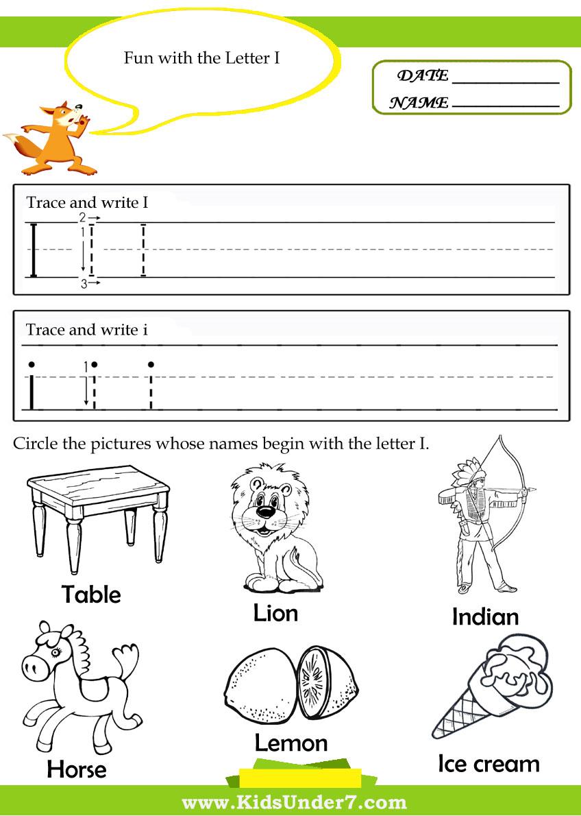 Workbooks letter w worksheets for preschool : Kids Under 7: Alphabet