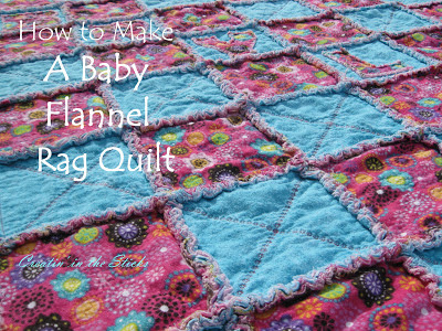 http://createinthesticks.blogspot.com/2012/12/how-to-make-flannel-rag-baby-quilt.html