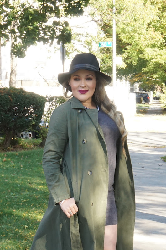 Olive Trench Coat #FallStyle
