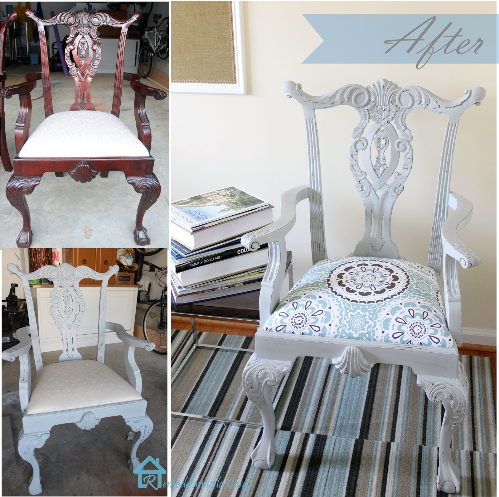 Chippendale Chair Painted With Chalk Paint Ascp
