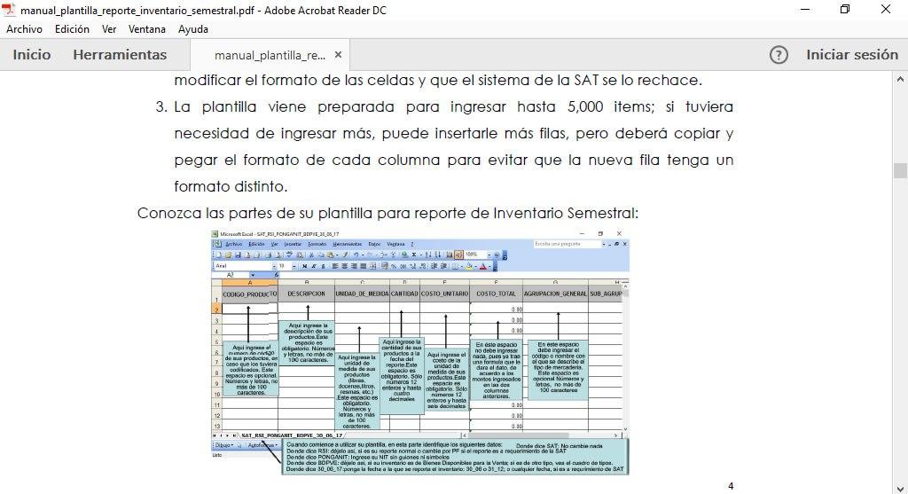 Plantilla en Excel para reporte Inventario Semestral ante la SAT ...