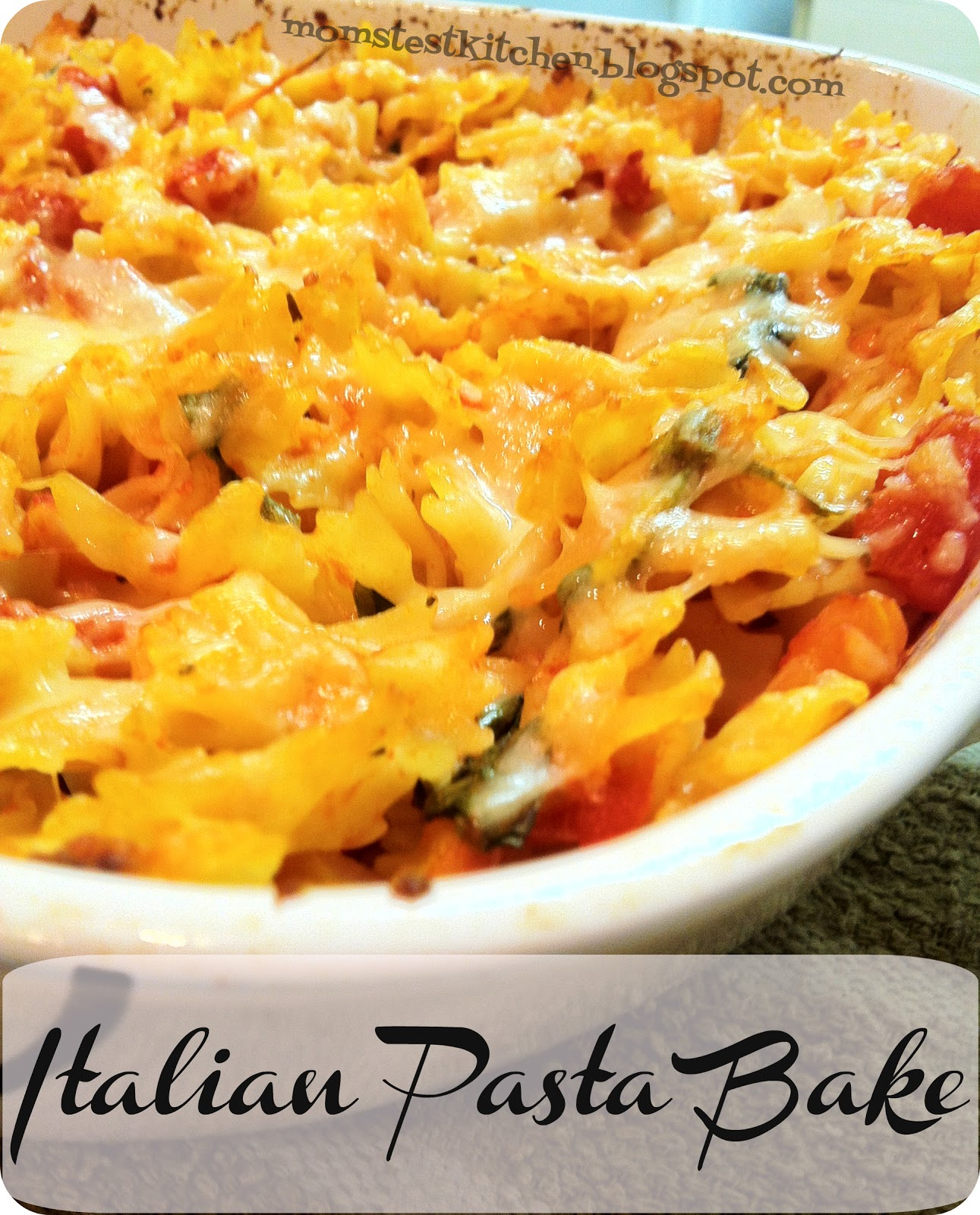 Italian Pasta Bake Recipe: Yummy Food Addict: Italian Pasta