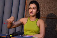 Actress Catherine Tresa Pos during Self Dubbing for Gautham Nanda Movie  0008.JPG