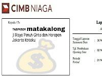 Cara Melihat E-Statement CIMB Niaga