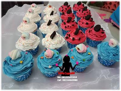Cupcake ButterCream tampilan seperti ice cream