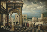 Italian Palace by Hendrick van Steenwyck II - Architecture, Landscape Paintings from Hermitage Museum