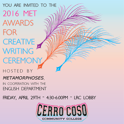 Image: Met Awards Ceremony, April 26, 4:30-6:00 p.m., Cerro Coso IWV LRC Lobby