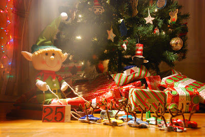 elf on the shelf advent bible study Santa with cars