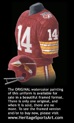 Washington Redskins 1969 uniform