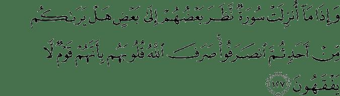 Surat At Taubah Ayat 127
