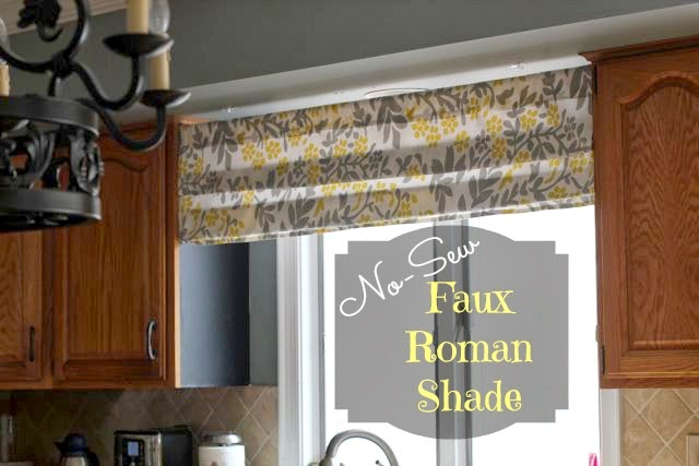Our Life In A Click No Sew Faux Roman Shade