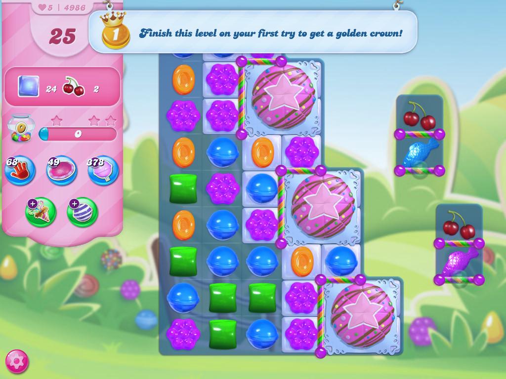 Candy Crush Saga level 4986