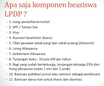 LPDP Scholarship 2015