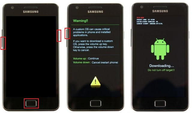 poner teléfono samsung en modo download
