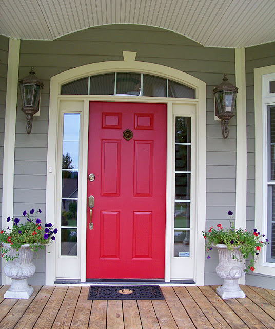 What Does A Red Front Door Mean: The Junk House: Front Door Plans