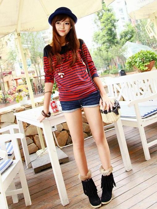 947b2cbd62 Korean Women Career in Simple Style Dresses Fashion Trends 2013 .
