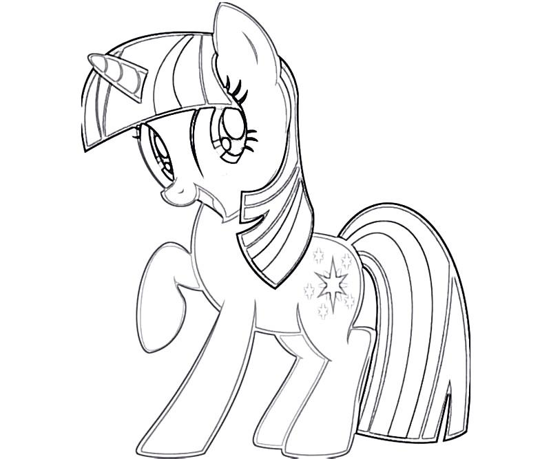 #7 Twilight Sparkle Coloring Page