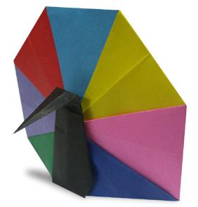 Origami peacock   Origami, Como fazer origami, Ideias para artesanato   296x283