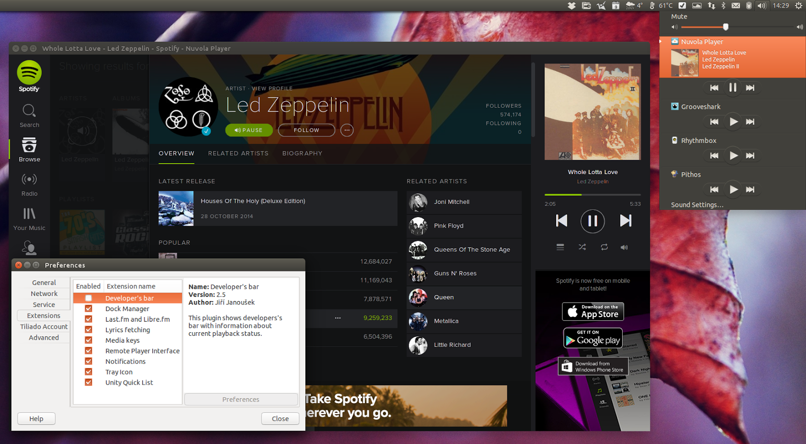 Nuvola Player 2 5 Released With Spotify Web Player And Grooveshark