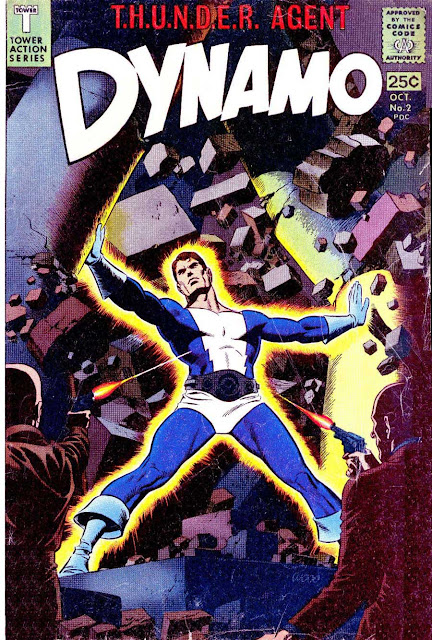 Dynamo v1 #2 tower 1960s silver age comic book cover art by Wally Wood