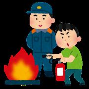 消火訓練・防災訓練のイラスト