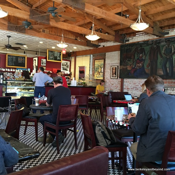 interior of 18th Street Coffeehouse in Santa Monica, California