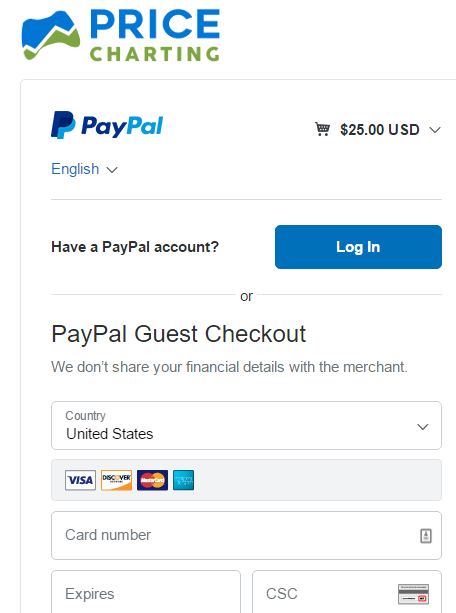 paypal pricecharting integration