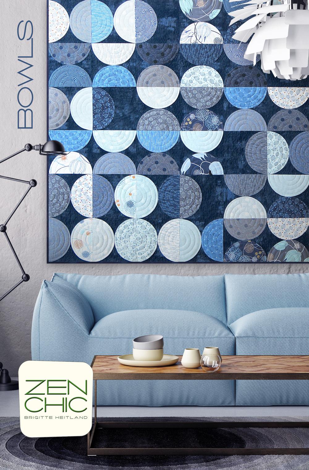 Farbstoff True Blue Zen Chic Collection For Quilt
