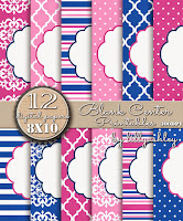 Quatrefoil Polka Dots Stripes Medallion Backgrounds Printables
