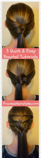 3 quick and easy ponytail hairstyles