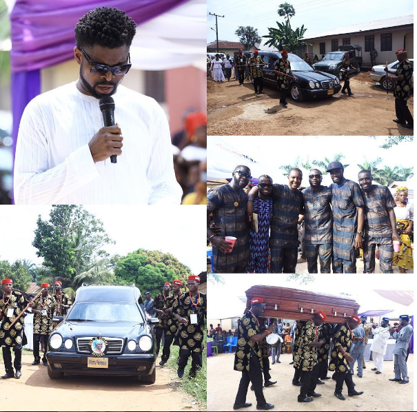 Basketmouth buries late mother in tears