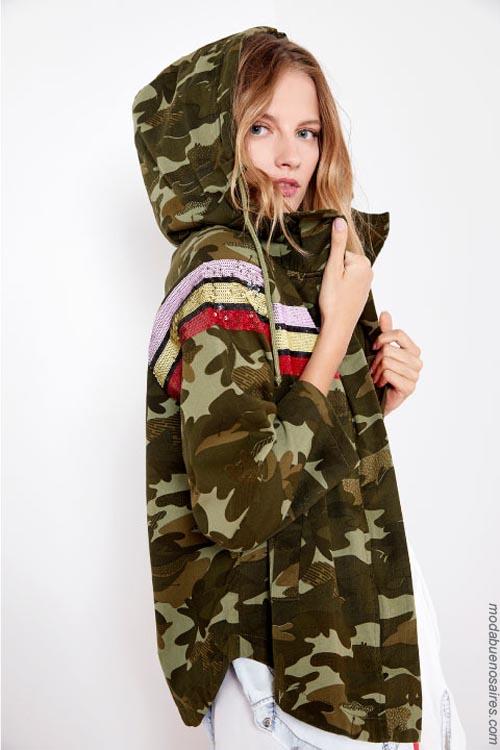 Chaquetas army, camperas de mujer camufladas Kosiuko primavera verano 2019.