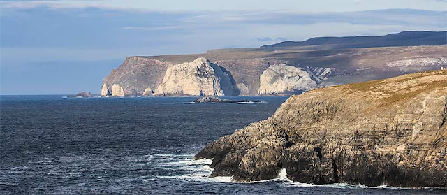 An image of the rugged north coast of Scotland near Durness and Cape Wrath.