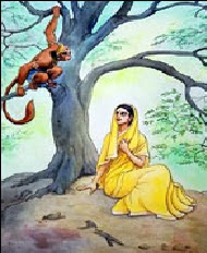 Image result for hanuman sita