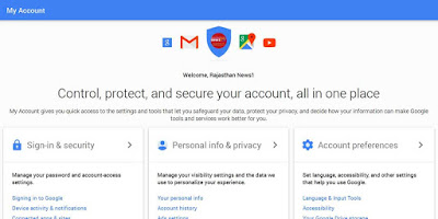 Google Inc, Google My Account, Google privecy policy, Google privecy setting, Google My Account feature