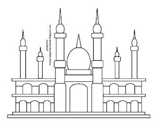 Gambar Sketsa Mewarnai Masjid Terbaru 201713