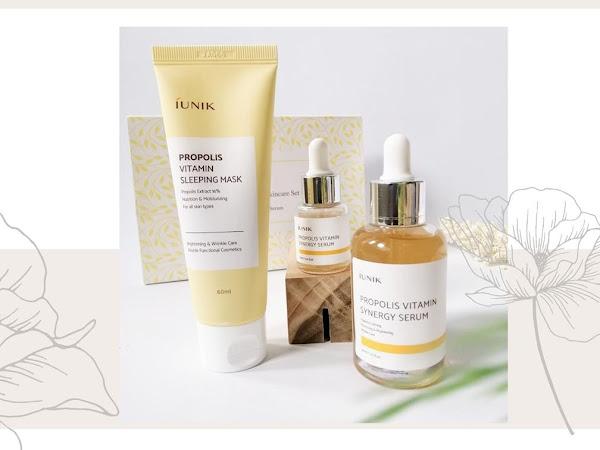 Review iUNIK Propolis Vitamin Synergy Serum & Sleeping Mask