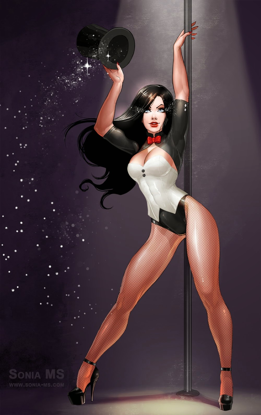 Stars Contemporary Nude Pin Up Art Gif