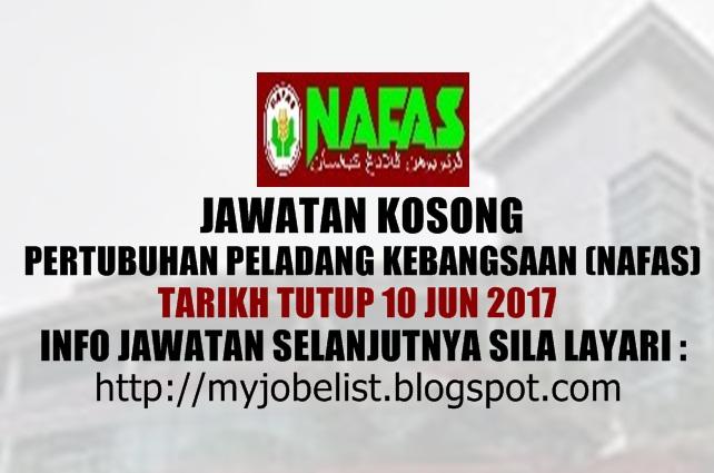 Jawatan Kosong Pertubuhan Peladang Kebangsaan (Nafas) Jun 2017