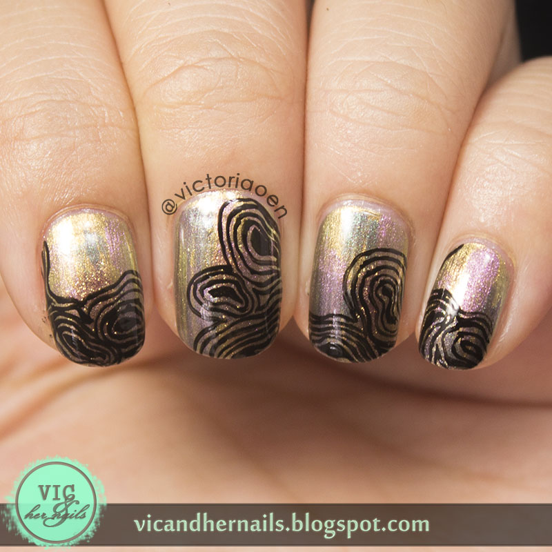 Vic and Her Nails: Abstract Oil Spill
